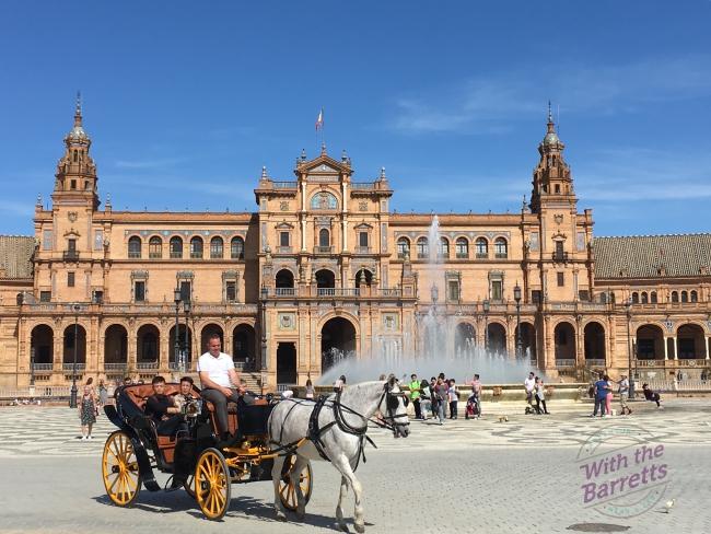 Horse-drawn carriage at Plaza Espana
